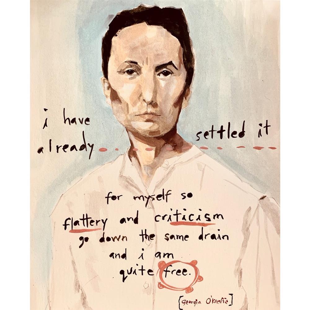 """732 Georgia O'Keeffe"" original fine art by Jenny Doh"