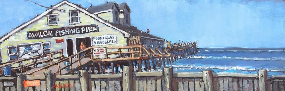 """The Sailfish on Avalon Pier"" original fine art by Rick Nilson"