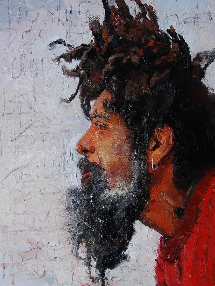 """The Face of Homelessness, Kings Rd II"" original fine art by Adebanji Alade"