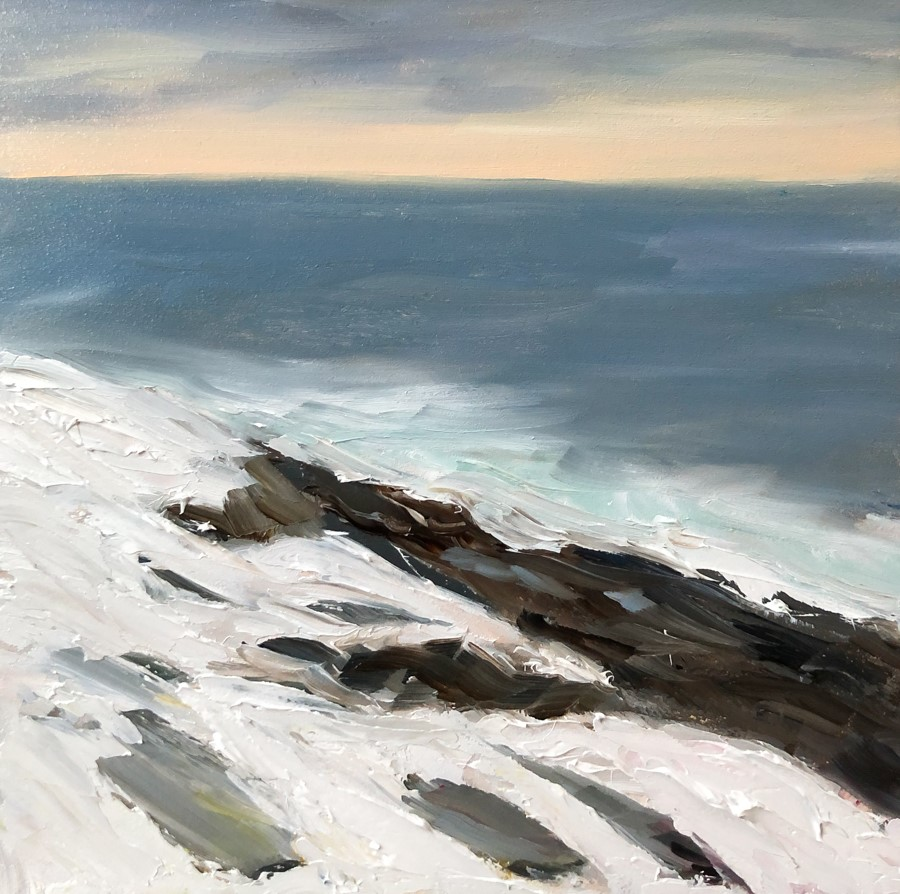 """#198 - Fresh Snow - Two Lights State Park, ME"" original fine art by Sara Gray"