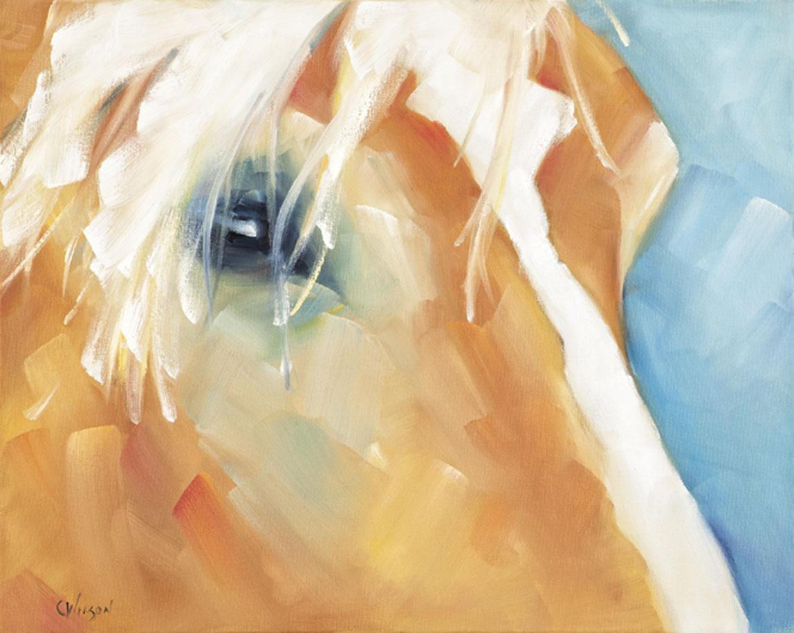 """Belgian Bangs"" original fine art by Cheryl Wilson"