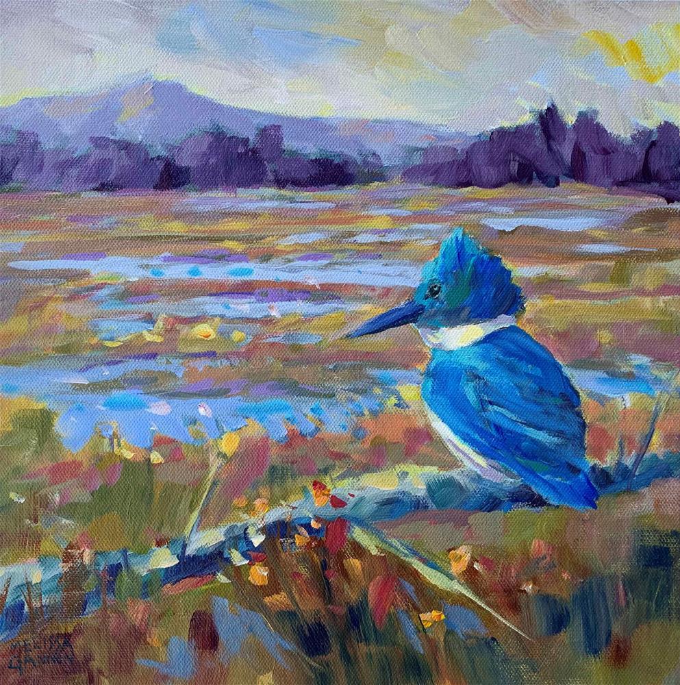 """Marsh Lord"" original fine art by Melissa Gannon"