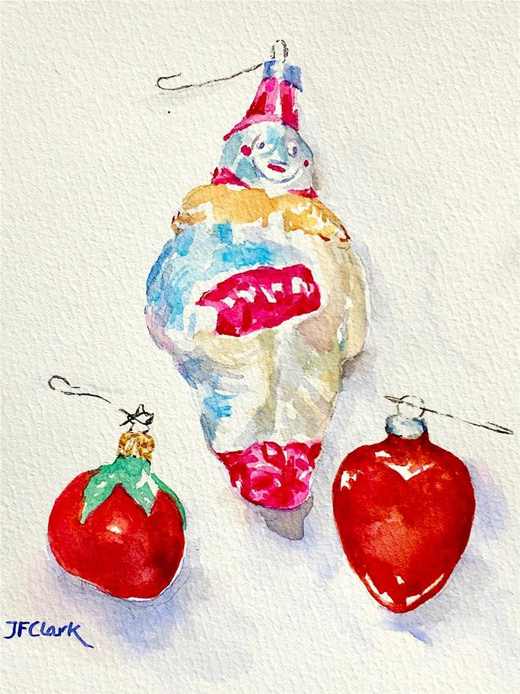 """Christmas Ornaments, #2"" original fine art by Judith Freeman Clark"