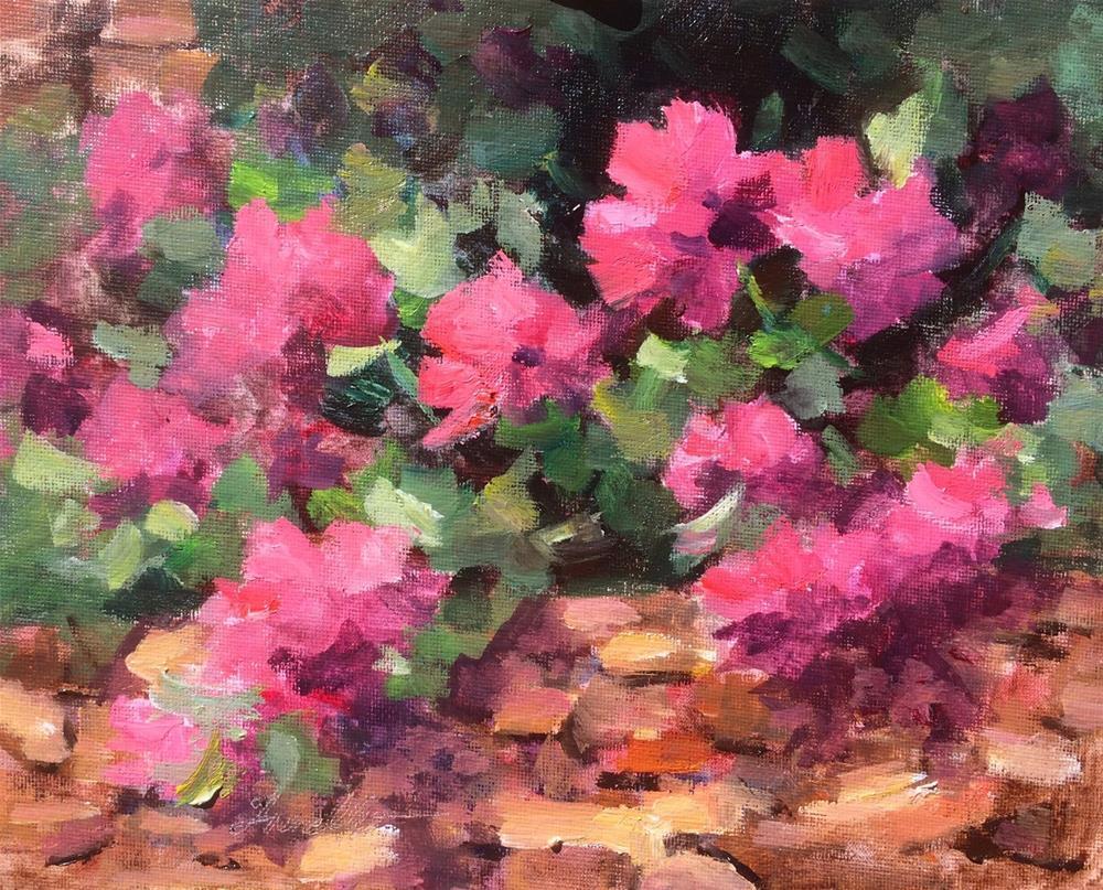 """Spanish Garden"" original fine art by Pat Fiorello"