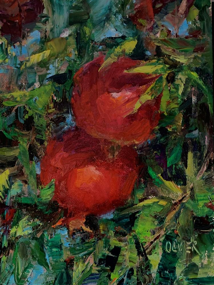 """Pomegranate Duo"" original fine art by Julie Ford Oliver"