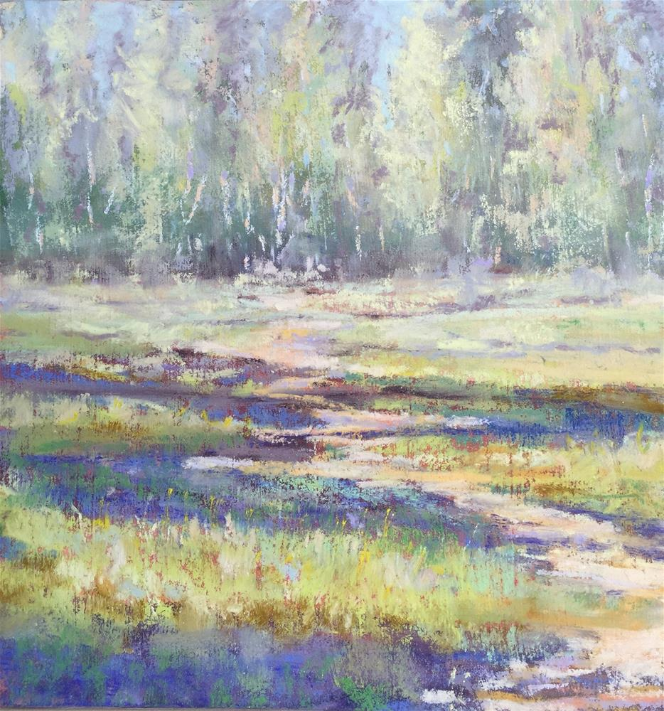 """""""Dreamy meadow"""" original fine art by Natasha Ramras"""