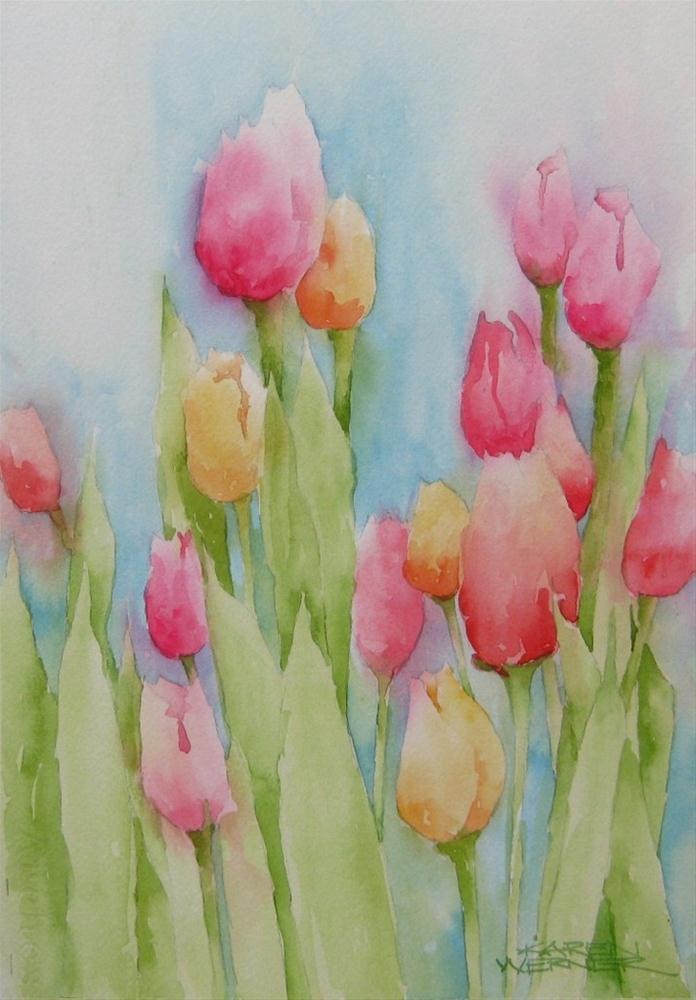 """""""Tulips"""" original fine art by Karen Werner"""
