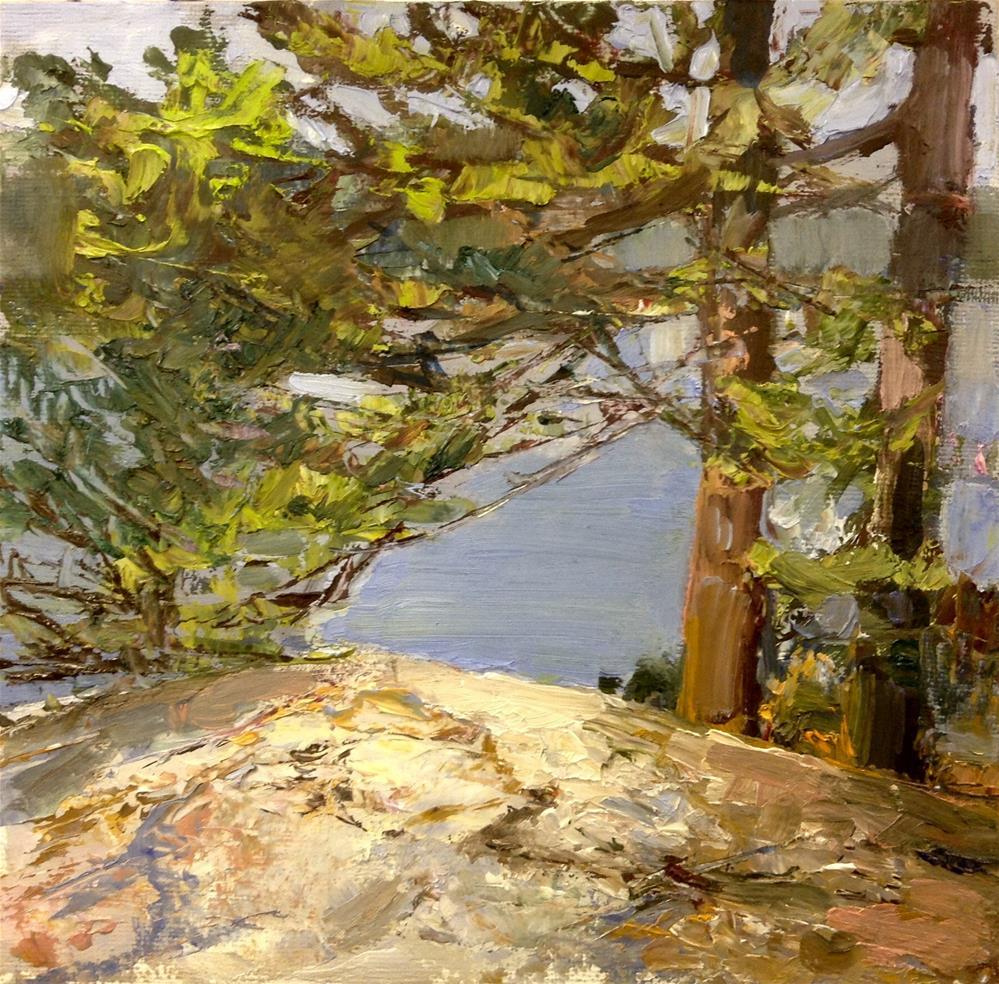 """""""Touching Down"""" original fine art by Cathy Boyd"""