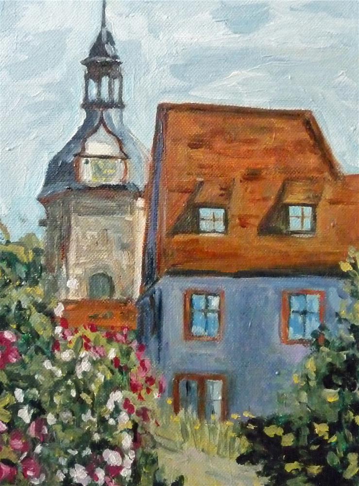 """Das alte Schloss"" original fine art by Eva Grünwald"