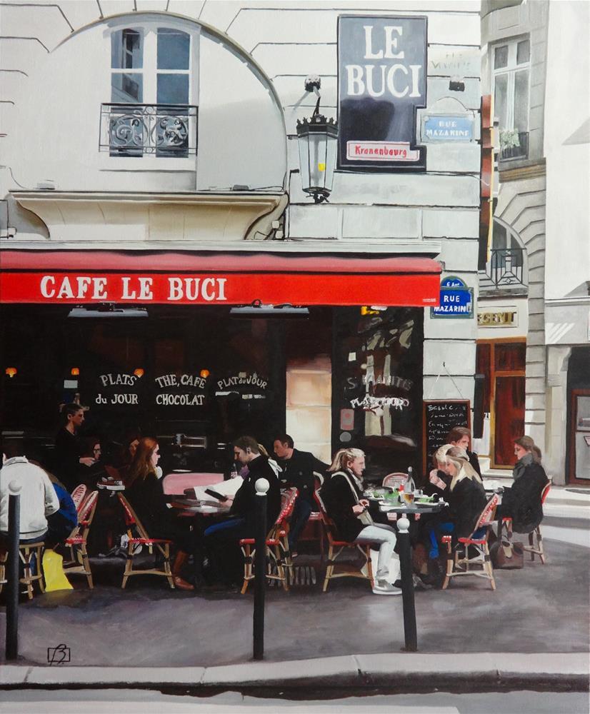 """Cafe Le Buci"" original fine art by Andre Beaulieu"