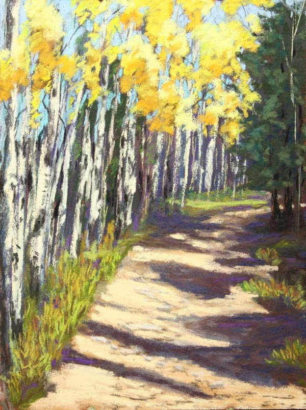 """Fall Aspen Climb"" original fine art by Jane Frederick"