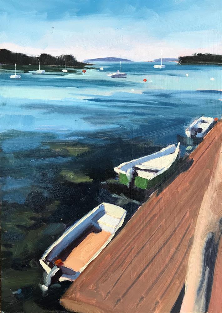 """Port Clyde Docks"" original fine art by Sharon Schock"