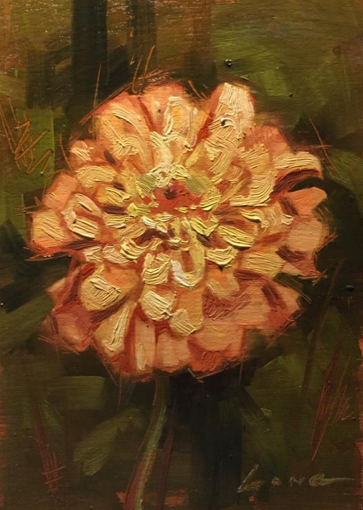 """Zinnia"" original fine art by Chris Long"