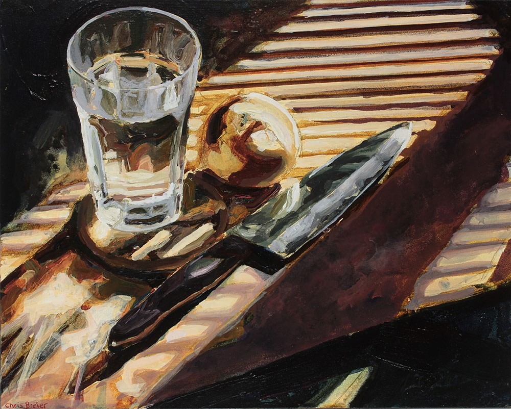 """Knife, Onion, Water"" original fine art by Chris Breier"