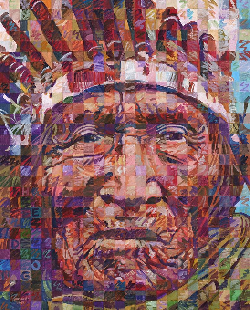 """He Dog of the Lakota Sioux"" original fine art by Randal Huiskens"