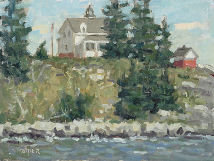 """""""DAY 3: Pemaquid Point Lighthouse, Afternoon"""" original fine art by Stuart Roper"""
