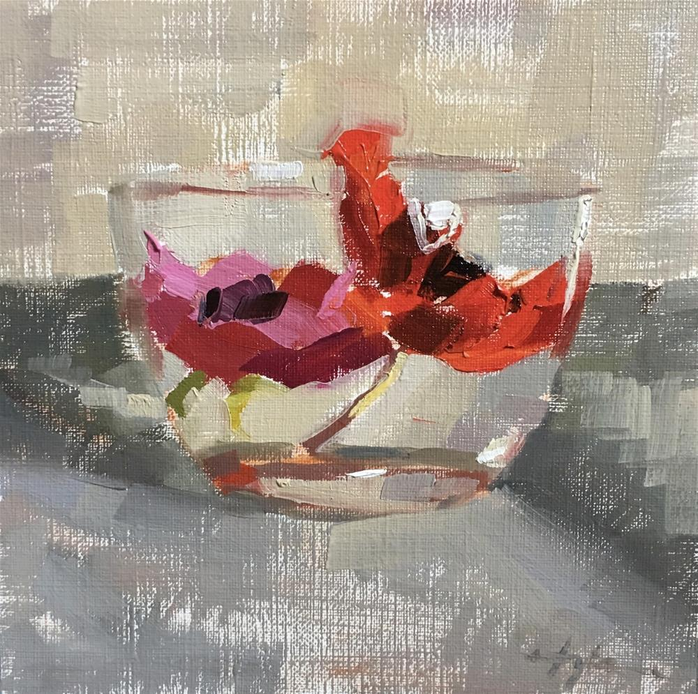 """""""Pink and Red"""" original fine art by Katia Kyte"""