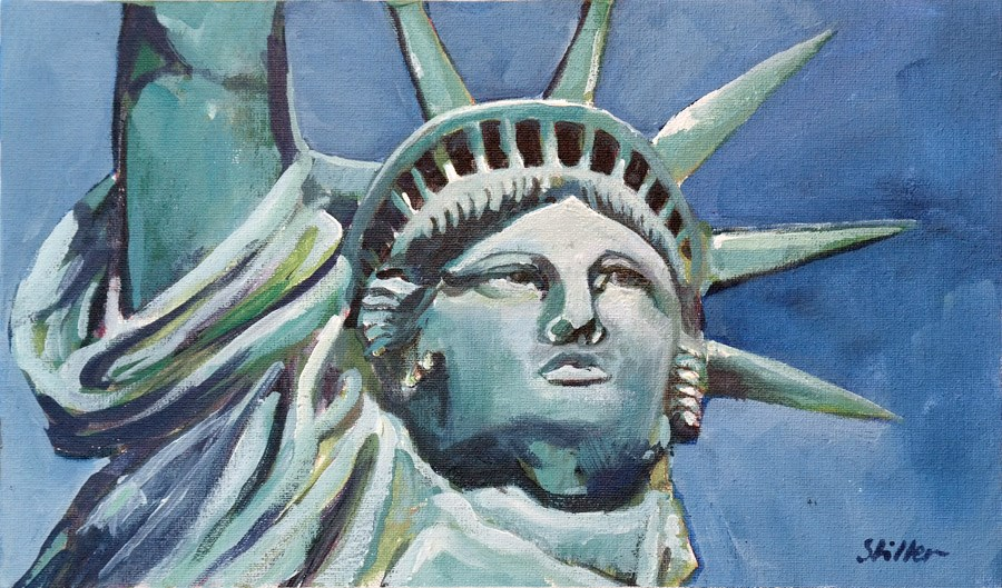 """1910 Lady Liberty"" original fine art by Dietmar Stiller"