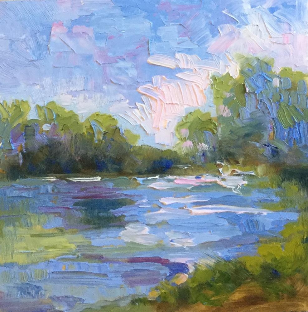 """Pink Horizon"" original fine art by Charlotte Fitzgerald"