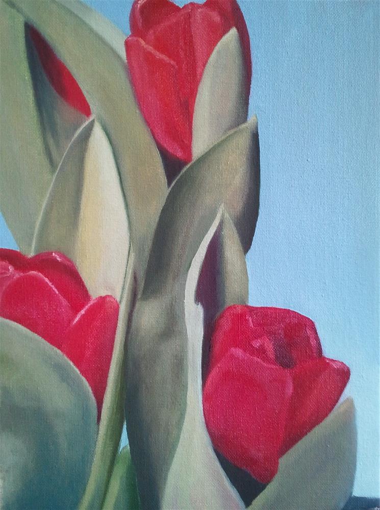 """Fussy Tulips"" original fine art by Kim Homes"