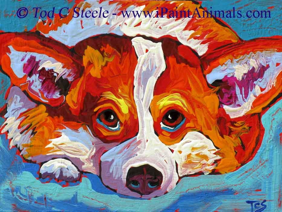 """The Eyes Have It - by Tod C Steele"" original fine art by Tod Steele"