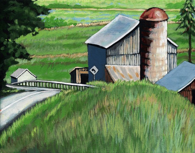 """Southern Ohio Countryside summer landscape painting"" original fine art by Linda Apple"