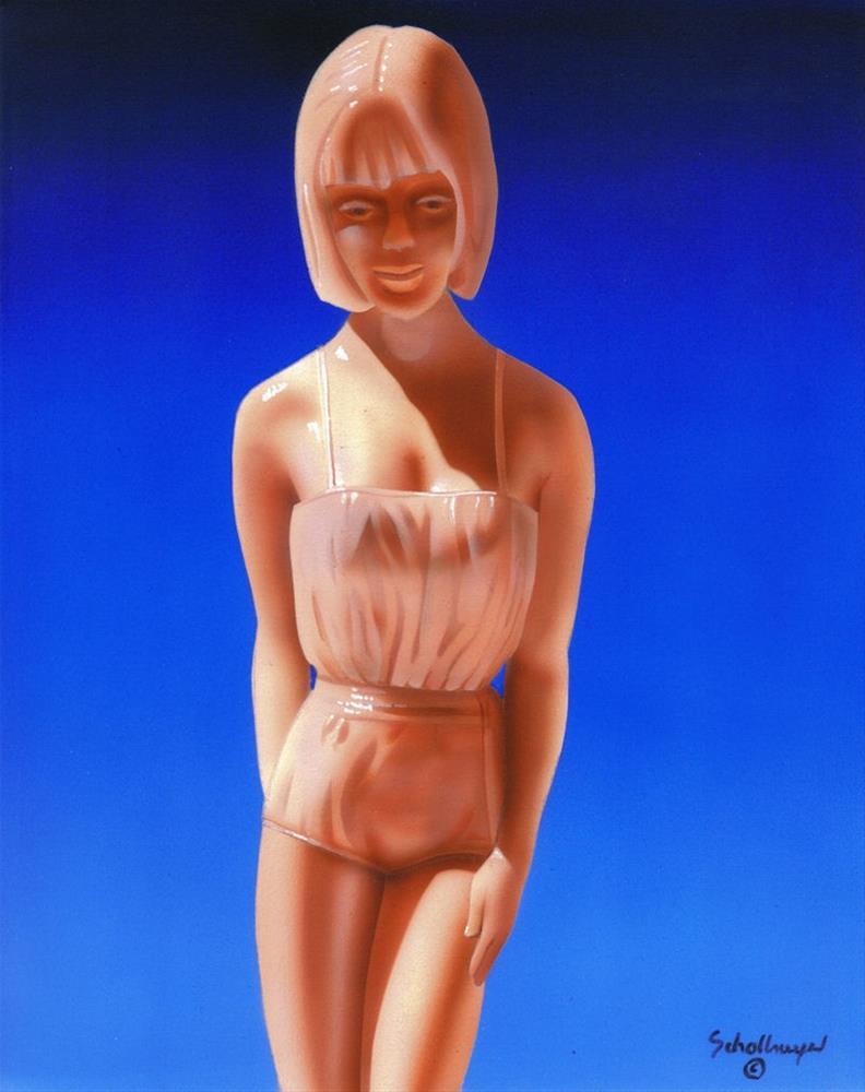 """60s Girl Figure"" original fine art by Fred Schollmeyer"
