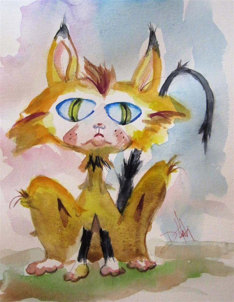 """Big Eyed Cat"" original fine art by Delilah Smith"