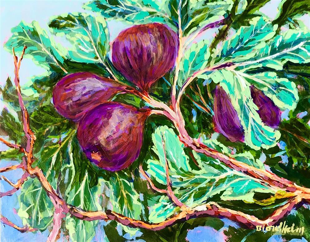 """Fig Tree"" original fine art by Linda Blondheim"