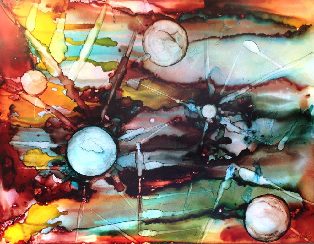 """""""This is Major Tom to ground control"""" original fine art by Anna Penny"""