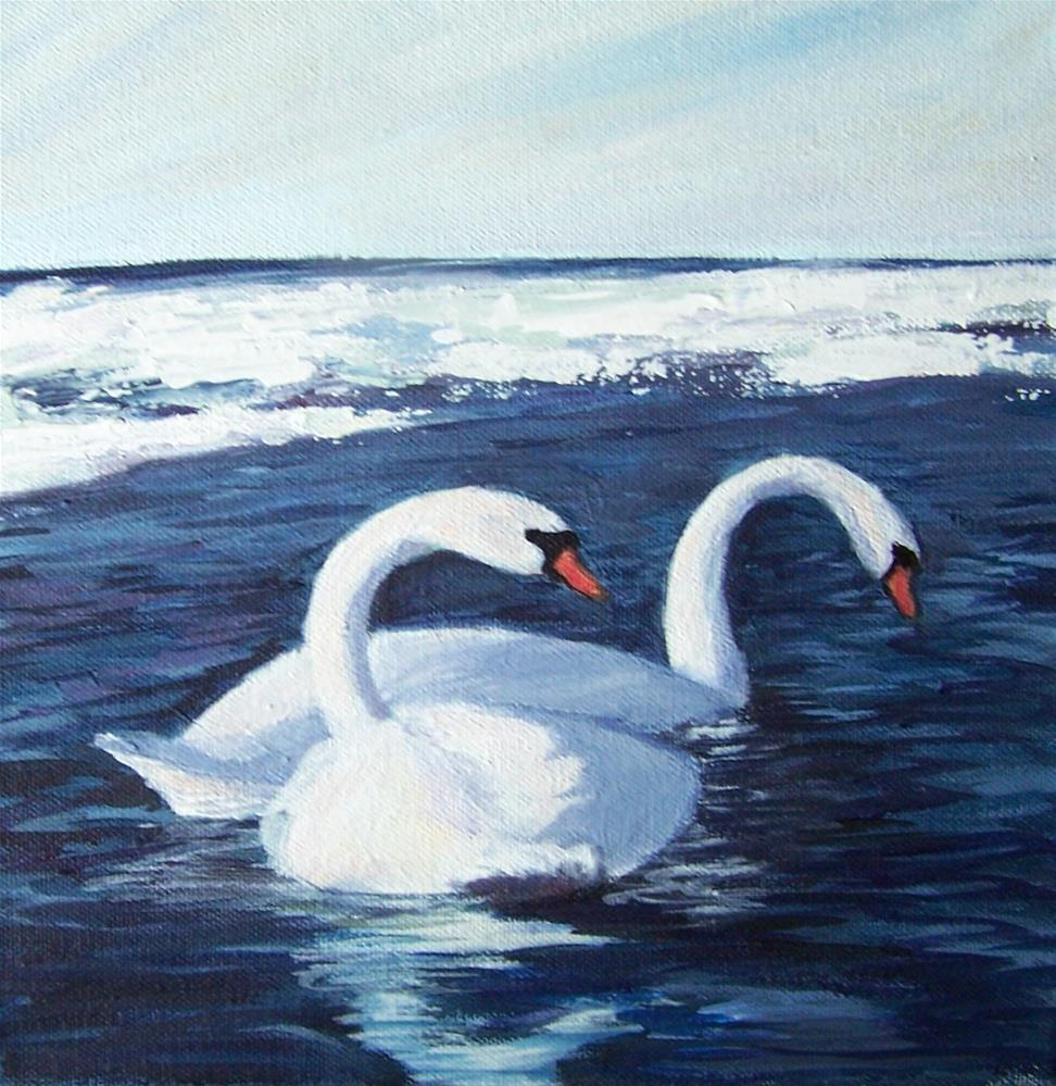 """Swans"" original fine art by Joan Matero"