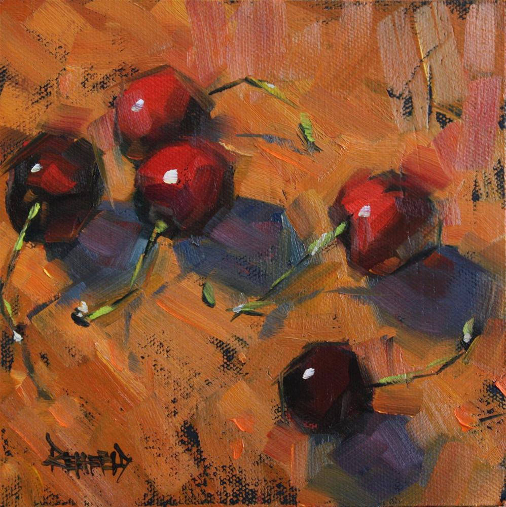 """Cherry Earth"" original fine art by Cathleen Rehfeld"