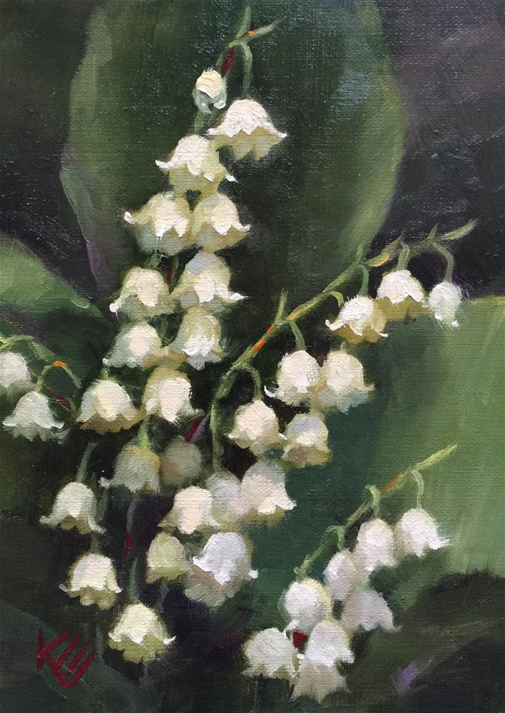 """""""Lily of the Valley"""" original fine art by Krista Eaton"""
