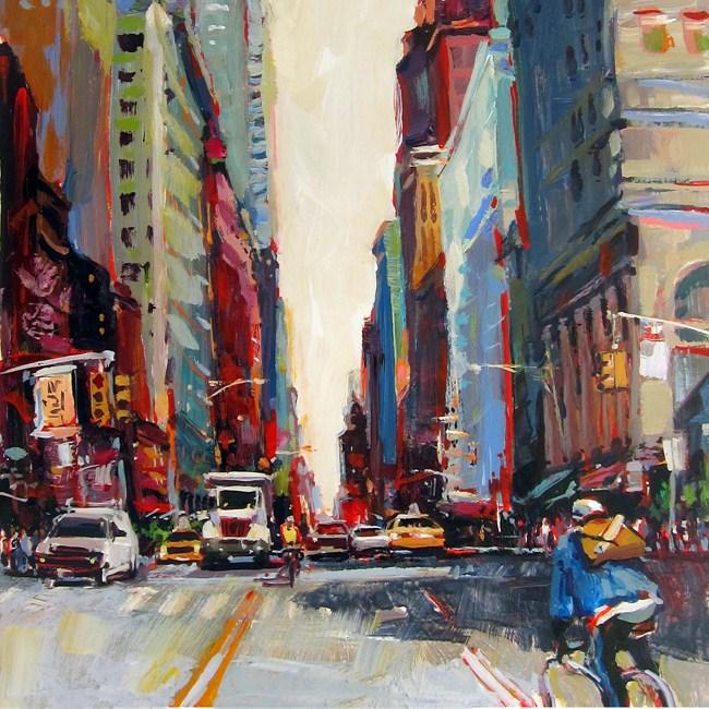 """Midtown Messengers"" original fine art by Patti Mollica"