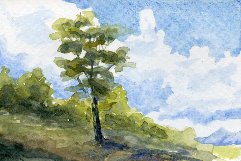 """""""Summer Tree"""" original fine art by Eileen Hennemann"""