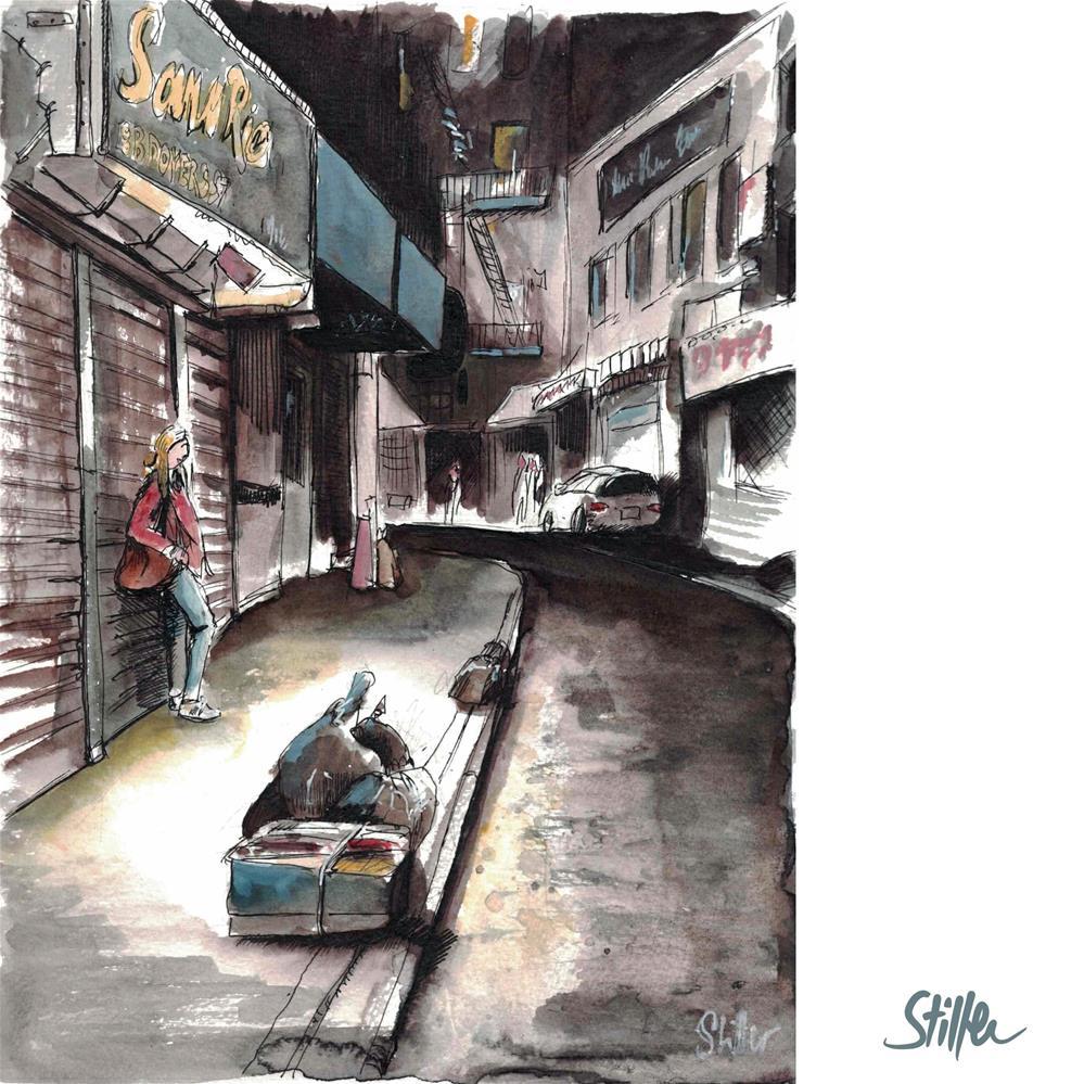 """""""3708 Chinatown"""" original fine art by Dietmar Stiller"""