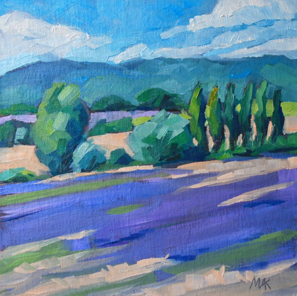 """""""Provence Countryside"""" original fine art by Mary Anne Cary"""