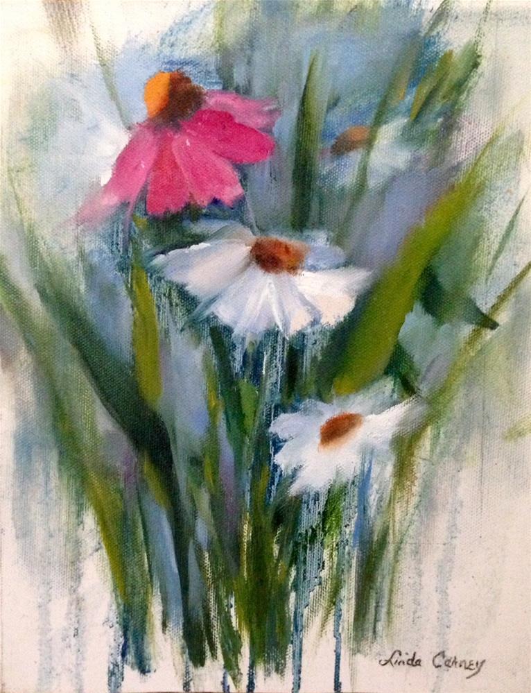 """Mixed Company"" original fine art by Linda Carney"