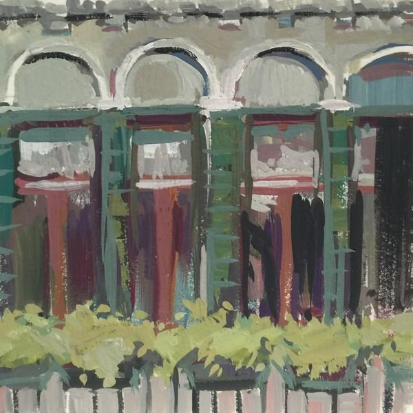 """""""The Pretty Palazzo Windowscape"""" original fine art by Patti McNutt"""