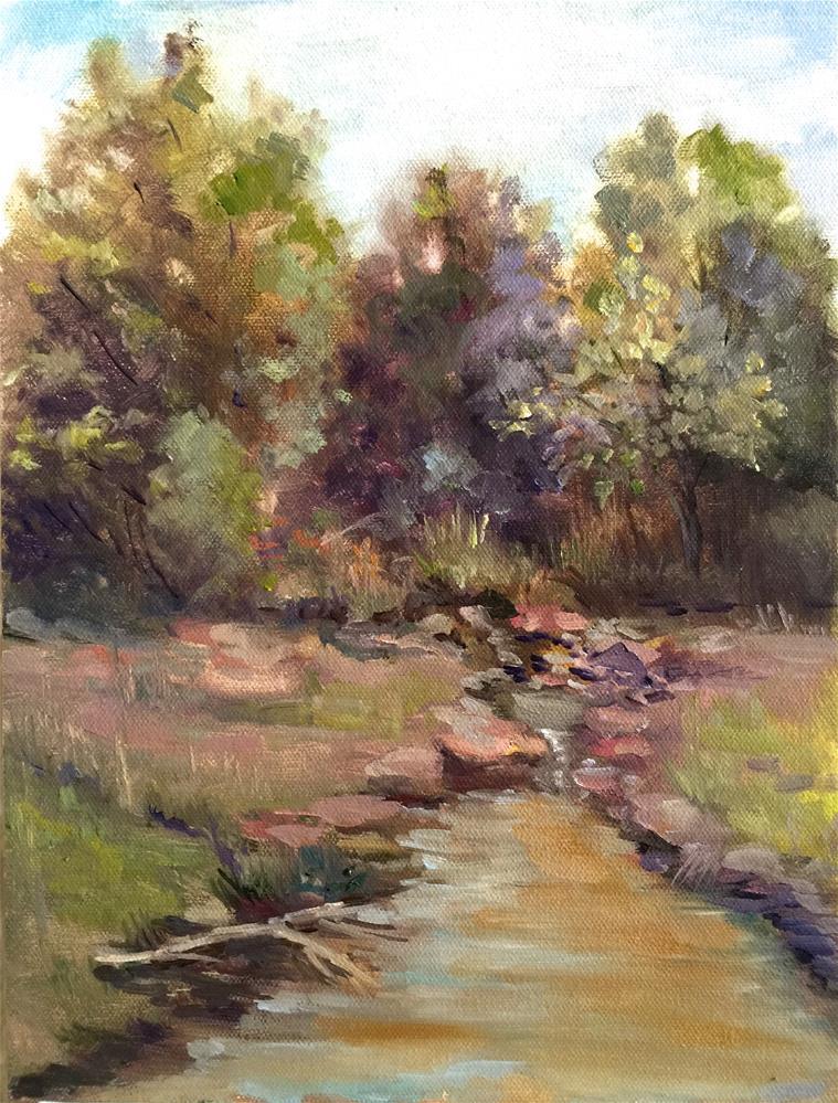 """Muddy May Creek"" original fine art by Linda Dunbar"