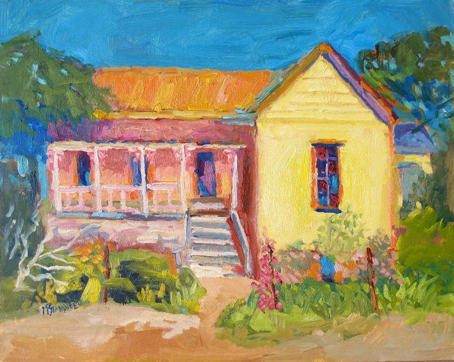 """The Bunkhouse or Honeymoon House, 12130"" original fine art by Nancy Standlee"