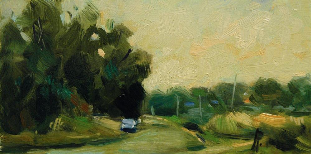"""Road at Climping"" original fine art by Andre Pallat"