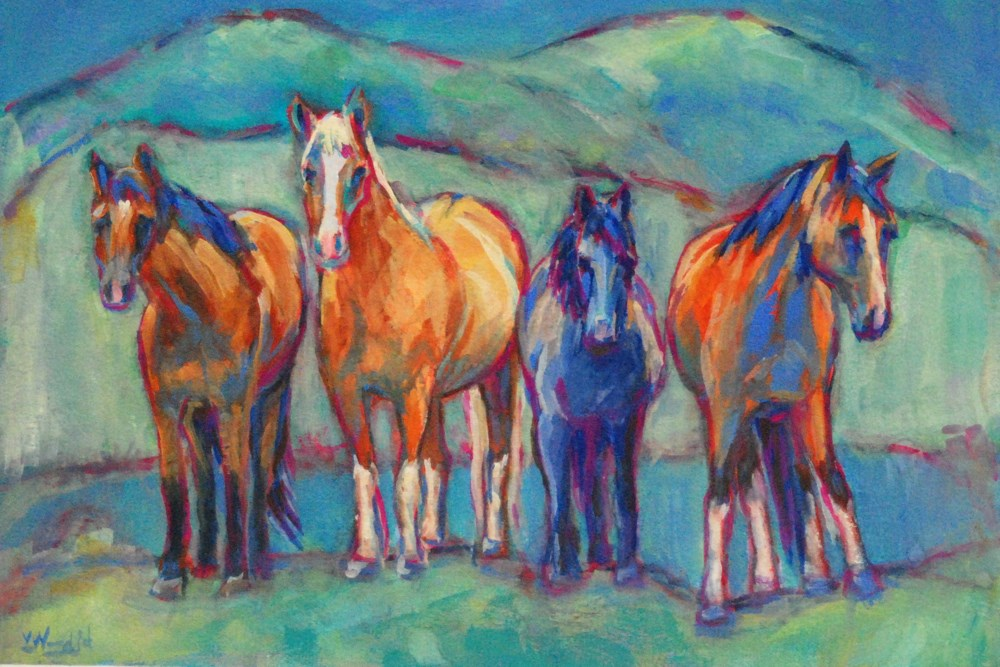 """these guys have lots to do..."" original fine art by Vicki Wood"