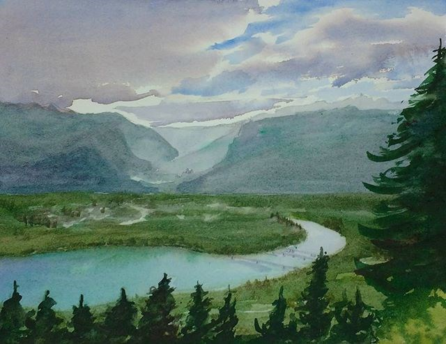 """Revelstoke Mist II"" original fine art by Maria Peagler"