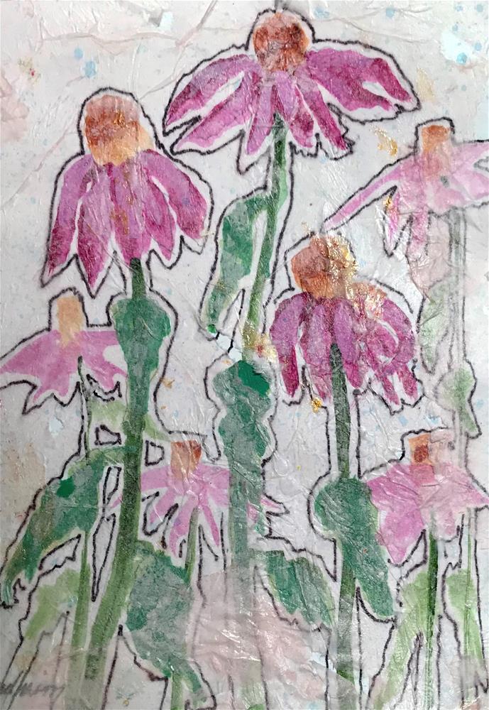 """Cone Flowers"" original fine art by Linda Blondheim"