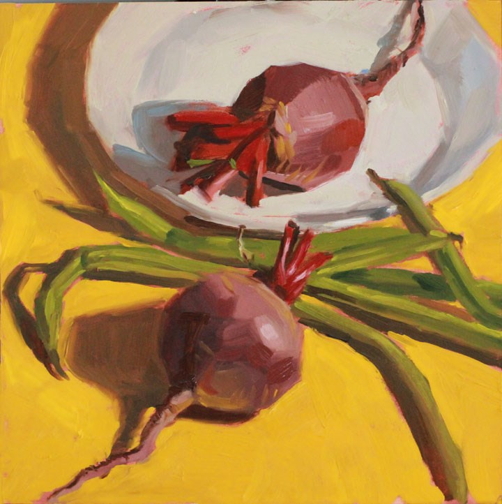 """""""Beets and Beans"""" original fine art by Nealy May Riley"""