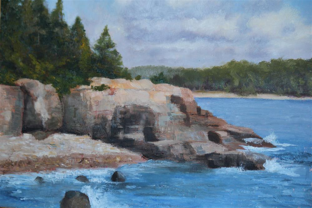 """Coast of Maine"" original fine art by Maria Reed"