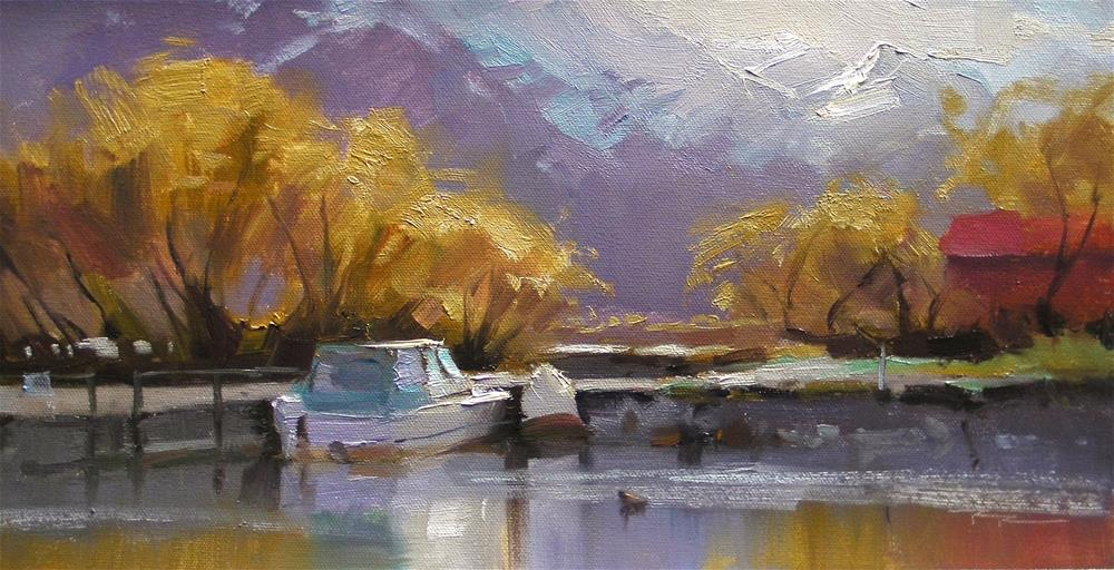 """Glenorchy Harbour"" original fine art by Richard Robinson"
