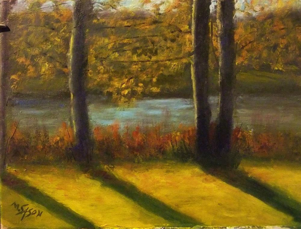 """Golden November"" original fine art by Michael Sason"