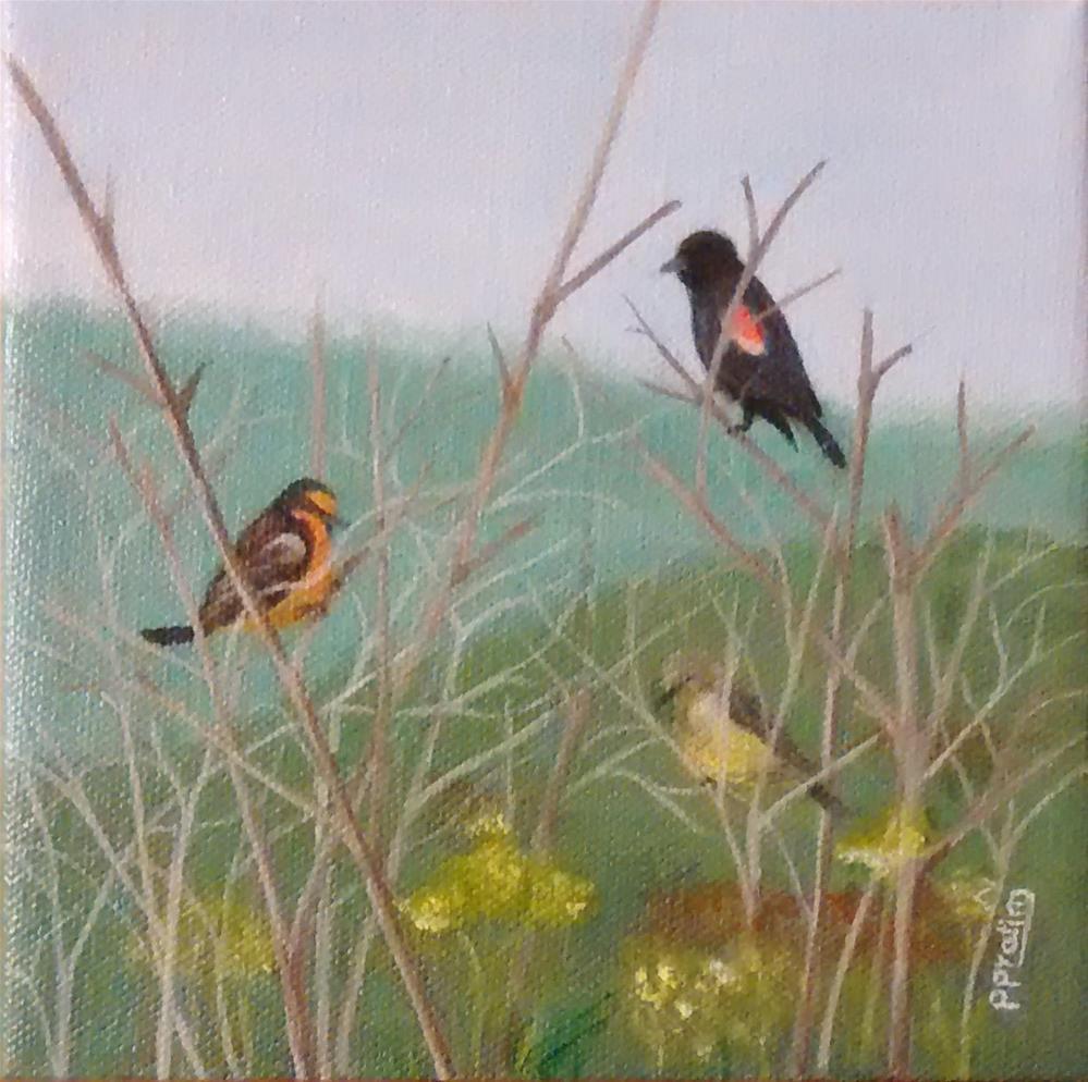 """Spring morning"" original fine art by Pratima Patel"